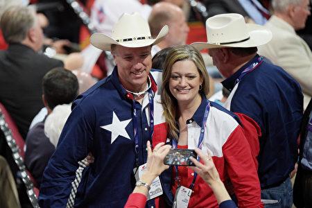 来自德州的党代表。 (Jeff Swensen/Getty Images)