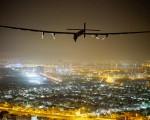 阳光动力2号降落阿布扎比,成功完成环球之旅。(Getty Images)