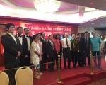 包括華裔、韓裔、日裔及越裔等多個中醫組織參與了誓師大會。(黃文華/大紀元)