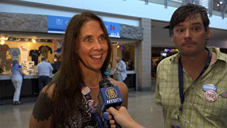 来自蒙大拿州的民主党代表Jennifer Merecki。(新唐人电视台)