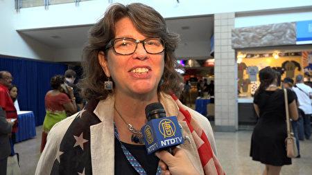 来自北卡罗来纳州的选民Margot Lester。(新唐人电视台)