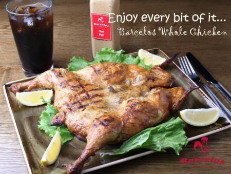 圖:Barcelos餐廳裡的葡式美食,主要產品是明火烤雞,不是炸雞,它比普通餐廳裡的雞肉含油量要少30%。(Barcelos餐廳提供圖片)