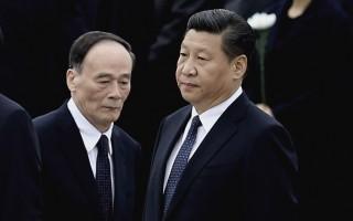 """中共""""十九大""""将近,习近平当局已出台跨越""""十九大""""的《纲要》,废除了中共""""七上八下""""的规则,为""""打虎""""干将王岐山留任创造了条件。(Feng Li/Getty Images)"""