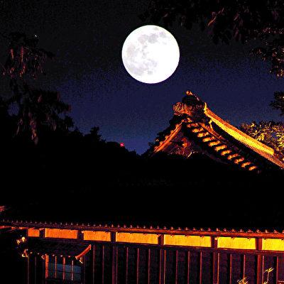 月亮 月夜 (攝影:王嘉益 / 大紀元)