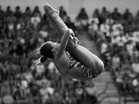美国跳水运动员卡西迪‧库克(Kassidy Cook)。(Streeter Lecka/Getty Images)