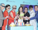 方中信、蕭敬騰、古巨基、宣萱、夏于喬於2016年8月18日在台北出席ProjeetPlus眼鏡店開幕。(黃宗茂/大紀元)