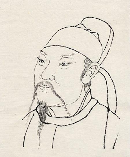 李白畫像(大紀元製圖)