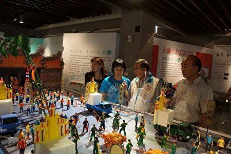 义民祭3D数位模型展,将'义民祭'的历史故事及祭典以模型比例呈现。(新竹县政府提供)