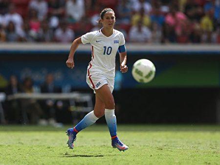 美国女足国脚卡莉•劳埃德(Carli Lloyd)。(Celso Junior/Getty Images)