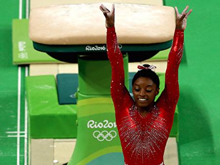 美國競技體操選手西蒙•拜爾斯(Simone Biles)。(Patrick Smith/Getty Images)