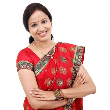 年轻的传统印度女子。(Fotolia)
