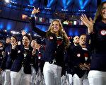 里約奧運開幕式上,各國代表隊的服裝,仍是注目焦點之一。(Cameron Spencer/Getty Images)
