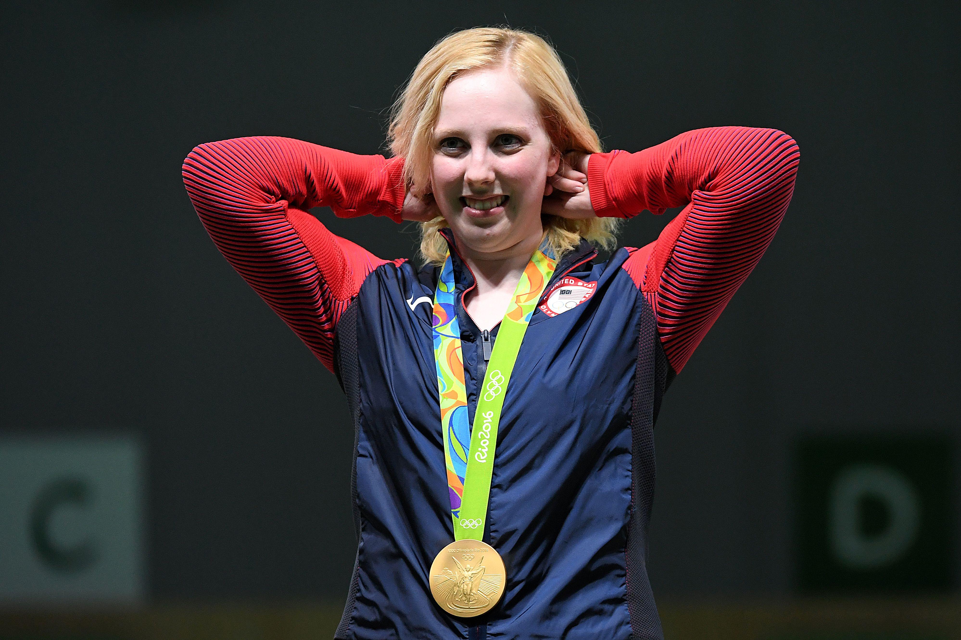 美射擊女將摘里約奧運首面金牌