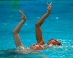 奥运水上芭蕾双人赛 俄国美人鱼再夺金牌