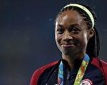 20日,在里约奥运女子400×4米接力项目中,美国名将菲丽丝(Allyson Felix)拿下生涯第6金。(Patrick Smith/Getty Images)