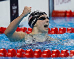 19歲的美國名將萊德基,12日將在女子800米自由泳中向自己本屆奧運會的第4面金牌發起衝擊。 (Clive Rose/Getty Images)