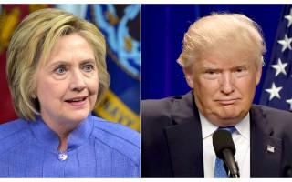 美总统大选辩论前民调 希拉里领先川普6%