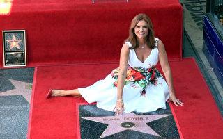 《天使在人間》女主角好萊塢星光大道摘星