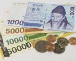 图为韩币。(全景林/大纪元)