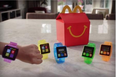 連鎖快餐店麥當勞在美國和加拿大推出的一款計步手錶。(麥當勞網站)