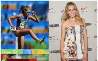 组图:美丽超模勇登奥运三千米障碍赛