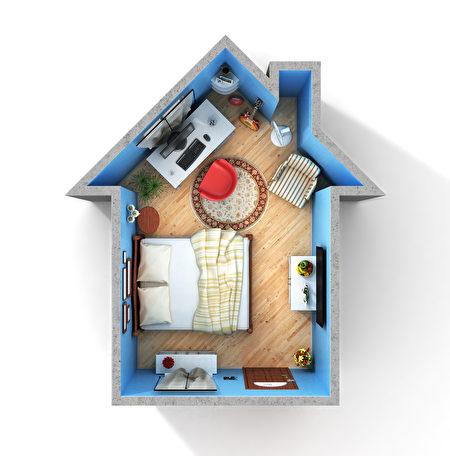 小空间的卧室每寸都很珍贵,需要好好打量。(shutterstock)