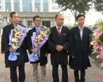 余文生、张赞宁、常伯阳、张科科4位律师为法轮功学员周向阳夫妇做了有理有据的无罪辩护,震撼人心。(NTD图片,知情者提供)