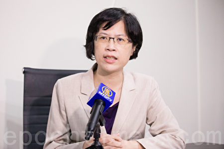 台灣國際器官移植關懷協會法律顧問朱婉琪。(陳柏州/大紀元)