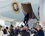 9月3日,奧巴馬專機抵達杭州後,隨行人員因安保問題與中共官員發生口角,當天晚在西湖賓館,雙方官員幾乎一度瀕臨動手邊緣。 (SAUL LOEB-AFP-Getty Images)