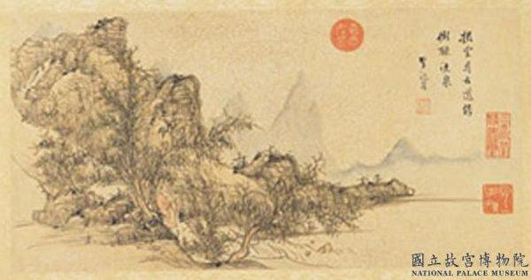 明朝李流芳繪〈李白尋雍尊師隱居詩〉,現藏台北故宮博物院。(公有領域)