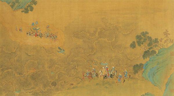 宋趙伯駒〈瑤池高會圖〉,現藏台北故宮博物院。(公有領域)