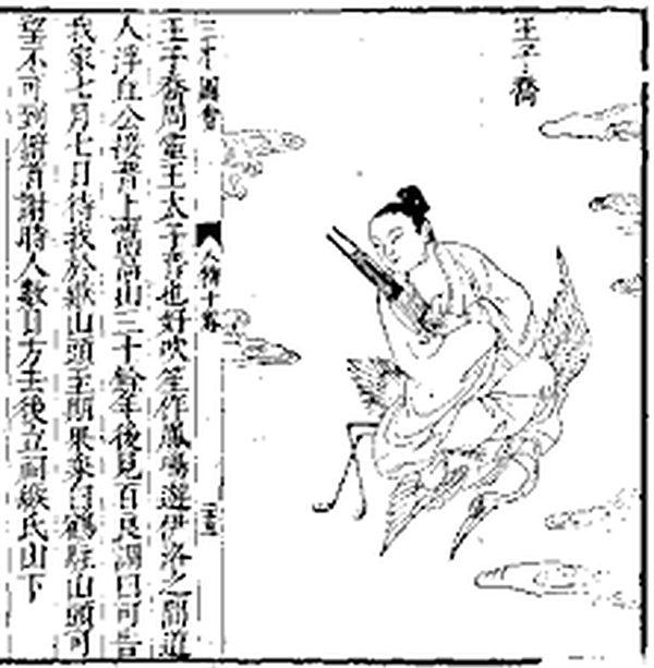 清代袁枚《子不語》第二十四卷記敘王子喬事蹟(公有領域)