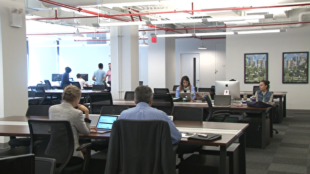 The Hub里面有适合不同公司的工作间。
