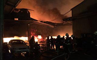 新北泰山工厂火警 烈焰冲天烧5家厂房