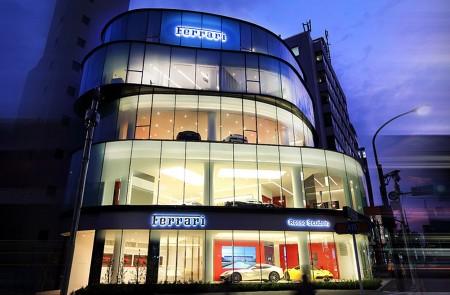 位于东京六本木的法拉利正规专卖店Rosso Scuderia。( Rosso Scuderia提供)