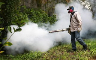 《柳叶刀》医学期刊于2016年9月1日发表一项预测未来寨卡病毒大爆发的地区及人数的研究报告,预估未来寨卡将在中国、印度及非洲部分地区大流行,被感染的人数将超过26亿人。本图为美国佛州的迈阿密海滩地区爆发本土型寨卡疫情后,当局派员加强灭蚊行动。(Joe Raedle/Getty Images)