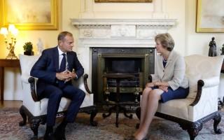 歐理事會主席訪倫敦 籲英速啟脫歐正式協商