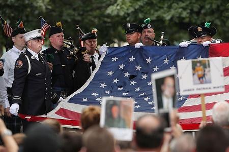 组图:9‧11袭击15周年 全美追思纪念
