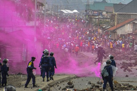 19日,民主剛果首都發生騷亂。(AFP/Getty Images)