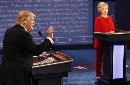 最新民調:希拉里贏辯論 川普贏選票