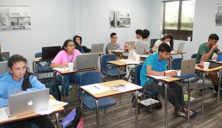 Y2 Academy辅导学校马里兰州伊利科特市分部课堂一景。(简然/大纪元)