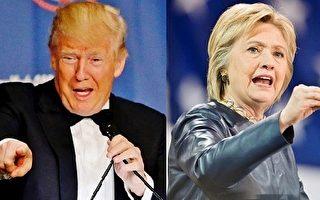 美大選首場辯論前 川普希拉里民調膠著