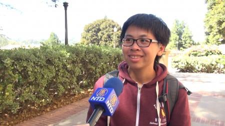 来自台湾,UCLA博士生 新生林彦如。(薛文/大纪元)