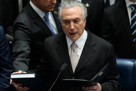特梅尔8月31日正式宣誓就任巴西总统。(AFP)