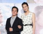 《一万公里的约定》电影发布记者会于2016年10月5日在台北举行。左起为黄远、赖雅妍。(黄宗茂/大纪元)