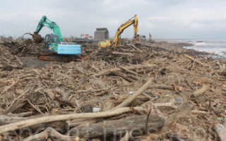 宜兰壮围地区林管处宜县府联合处理漂流木