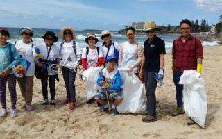 悉尼华裔居民清理海滩 吁社区增强水域环保