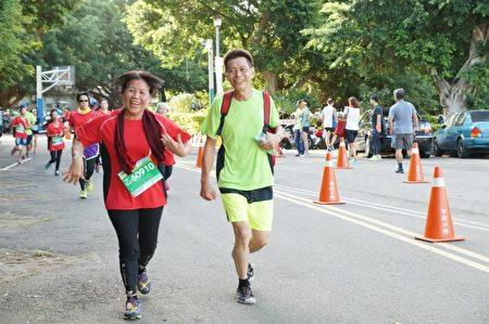 快樂的跑者英姿。(新竹縣政府提供)