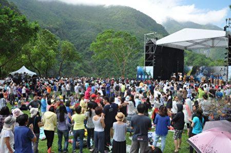 花蓮太魯閣峽谷音樂節29日在太魯閣國家公園盛大舉辦。(詹亦菱/大紀元)