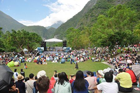 花蓮太魯閣峽谷音樂節29日在太魯閣國家公園舉辦,吸引上千名民眾到場欣賞。(詹亦菱/大紀元)